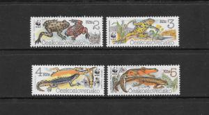 WWF- TOADS, NEWTS - CZECHOSLOVAKIA #2748-2751