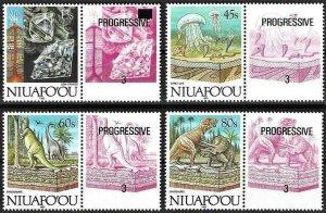 1993 Niuafo´ou Island Beautiful Minerals, Dinosaur, complete set VF/MNH! LOOK!