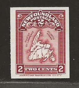 NEWFOUNDLAND  SC# 86P  CARD PROOF VF