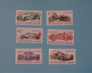 Bulgaria - 3223-28, MNH Set. Sports Cars. SCV - $3.10