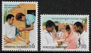 UN, Vienna #82-3 MNH Set - Volunteer Day