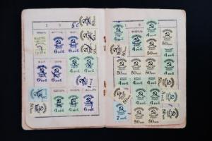 Ukraine Rare War Rations Stamp Book