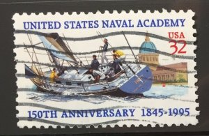 US #3001 Used F/VF - Naval Academy 150th Anniversary 32c