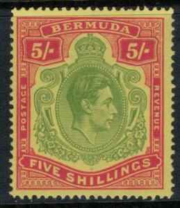 Bermuda #125a* (S.G. Cat. #118)  CV $60.00