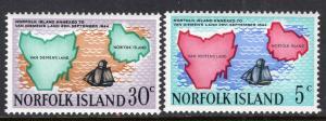 Norfolk Island 123-124 MNH VF