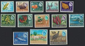 S. Rhodesia Guineafowl Bird Fish Antelope Crops Orchids Definitives 13v