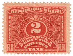 (I.B) Haiti Revenue : Postal Tax 2c
