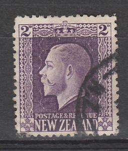 NEW ZEALAND 1915 KGV 2D ENGRAVED PERF 14 X 14.5