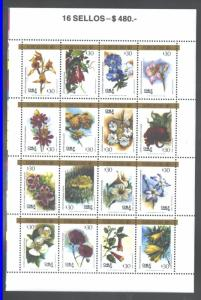 CHILE 1988 FLOWERS #795 MNH