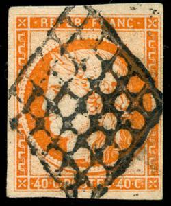 momen: France Stamps #7 Used VF