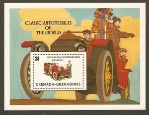 Grenada Grenadines #554 NH Classic Autos of the World SS