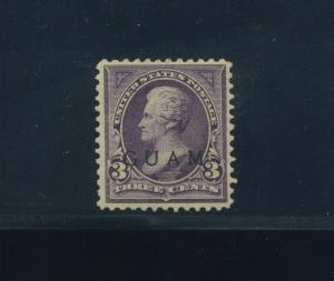 Guam Scott 3 Overprint Mint Stamp w/PF Cert (Stock Guam 3-PF1)