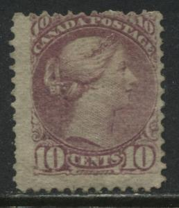 Canada 1877 10 cent dull rose Small Queen mint o.g. a little sweated