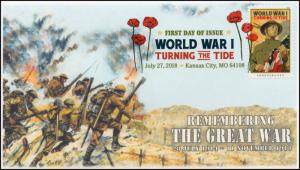 18-209, 2018, World War I, Turning the Tide, DCP, First Day Cover