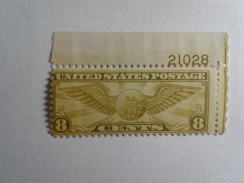 SCOTT # C17 GEM WITH PLATE # AIR MAIL MINT NEVER HINGED GREAT CENTERING !!