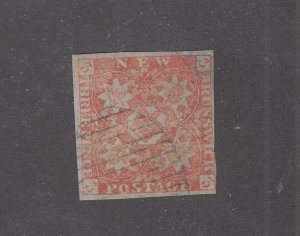 NEW BRUNSWICK # 1 VF-3d RED LIGHTLY USED CAT VALUE $700