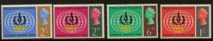 FALKLAND ISLANDS SG228/31 1968 HUMAN RIGHTS MNH