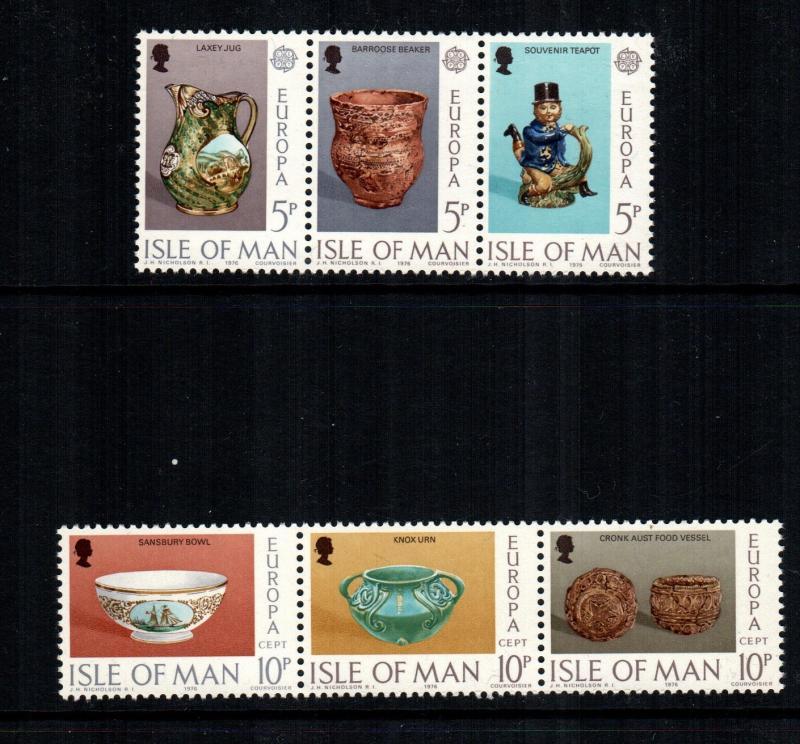 Isle Of Man MNH 86-91 Europa 1976