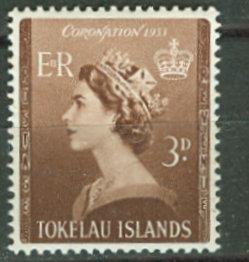 Tokelau # 4 QE II Coronation    (1) Unused VLH
