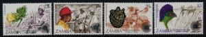 Zambia 276-9 MNH Commonwealth Day, Cotton, Mining, Dance, Bird