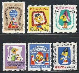 Romania # 1375-1380 ~ Cplt Set of 6 ~ CTO, HMR ~ cv 1.20