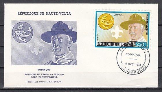Burkina Faso, Scott cat. 322. Scout Baden Powell. First day cover.