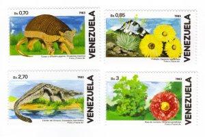 Venezuela #1371-74 MNH - flora/fauna (a1359)