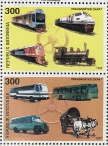 1722a-1724a Train/Ships/Airplanes/Buses CV$4 Vertical Pairs