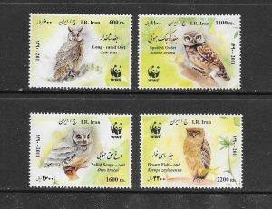 BIRDS - IRAN #3050-3  MNH