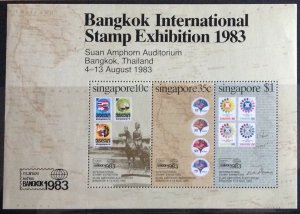 SINGAPORE  1983 STAMP EXHIBITION SGMS457  UNMOUNTED  MINT.