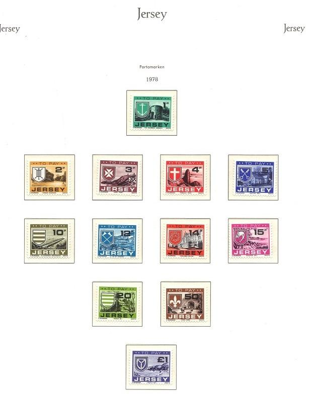 Jersey  1978  MNH  postage due complete