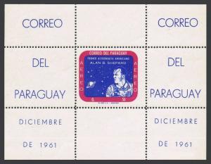 Paraguay 616a sheet,MNH.Michel Bl.12. Alan B.Shepard,First US astronaut,1961.