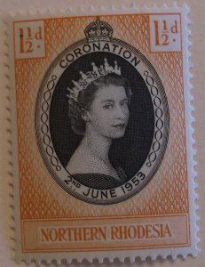 Northern Rhodesia Stamp 60 MNH Royalty Topical