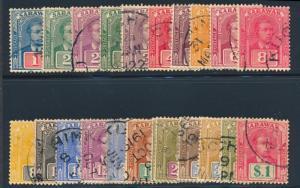 SARAWAK 50-70 USED, BROOKE 1918-1923 SERIES, SCARCE