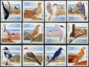 Namibia. 2012. Birdlife of Namibia (MNH OG) Set of 12 stamps