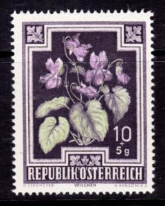 Austria B235 MNH - Flowers - 1948