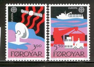 FAROE ISLANDS 173-174 MNH EUROPA 1988