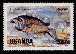 UGANDA QEII SG463, 1985 205s Browns Haplochromis, NH MINT.