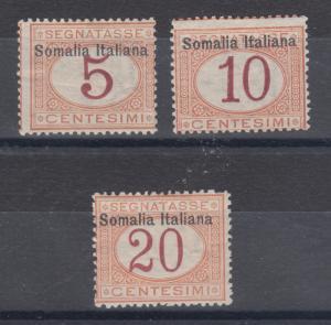 Somalia Sc J12-J14 MLH. 1909 Postage dues, 3 different, sound
