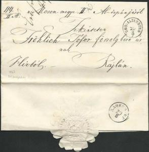 AUSTRIA HUNGARY 1863 folded entire ex ENG. ALTENBURG.......................66443