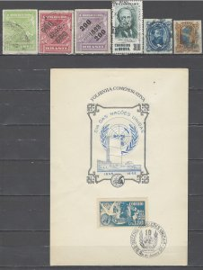 COLLECTION LOT # 4558 BRAZIL 6 STAMPS + 1 SS 1866+ CV+$19