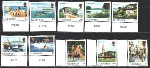 Guernsey. 1984. 288A-97A. Tourism, ships, fishing, cows, horses. MNH.