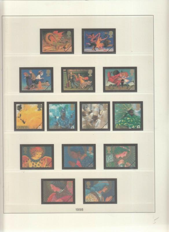 LINDNER LUXURY GB ALBUM PAGES YEARS 1997-1998