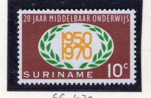 Suriname 1970 Early Issue Fine Mint Hinged 10c. 168899