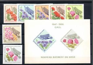 Togo 558-63, C52-53, C53a Mint NH Flowers SCV $7.70