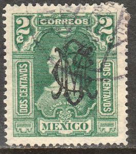 MEXICO 456, 2c VILLA MONOGRAM REVOLUT OVPERPRINT USED. VF. (313)