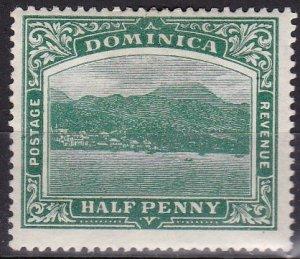 Dominica 1907 Scott # 35 Roseau Capitol MH small thin