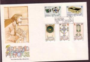 Isle of Man Sc 384-8 1989  Celtic Art Knox stamps FDC
