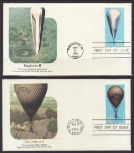 US 2032-2035 Balloons Fleetwood S/4 U/A FDC