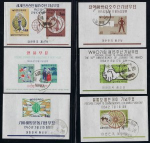 11 Korea 1960's Era Souvenir Sheets Used CTO
